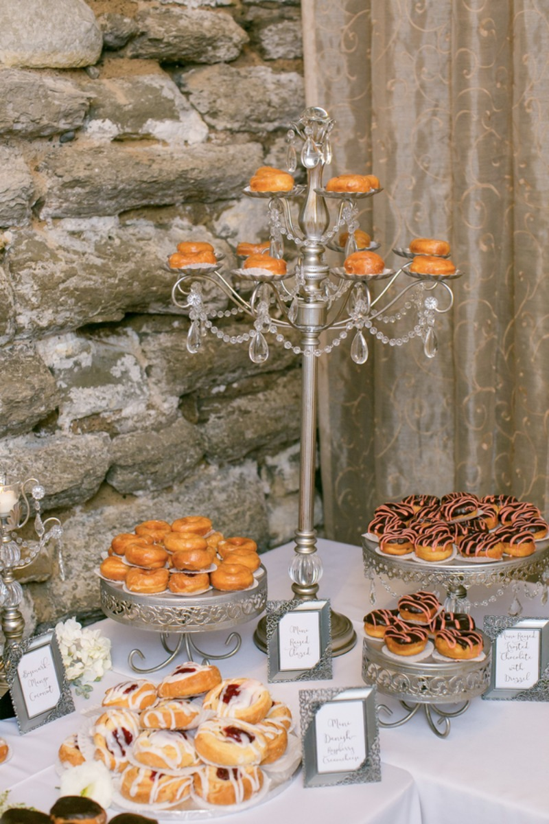 Decadent Wedding Dessert Bars! Opulent Treasures offers a gorgeous collection of serving pieces to display all your sweets!