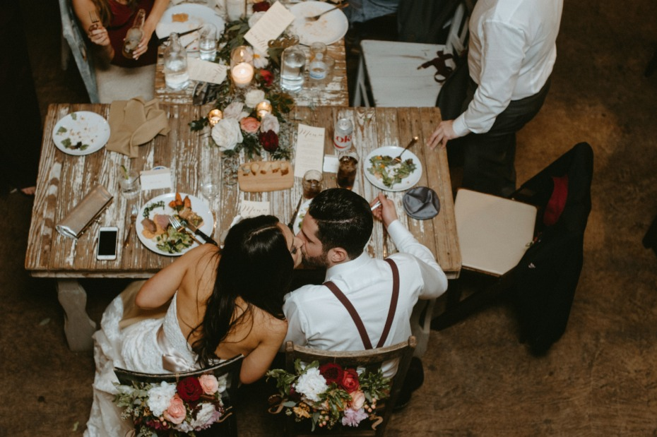 Attach your sweetheart table to the main table