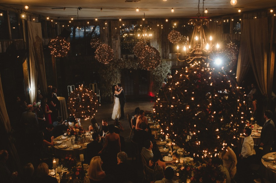 Romantic atmosphere for a first dance