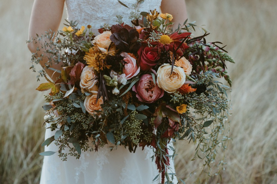Wild fall floral bouquet