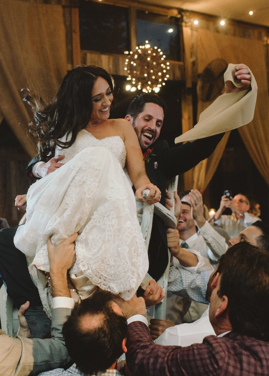 Sharing a chair for the Hora
