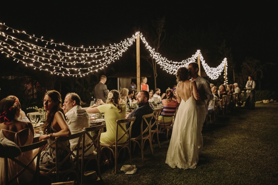 twinkle lights at your reception