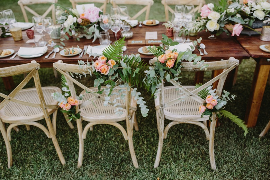 sweetheart table floral chair decor