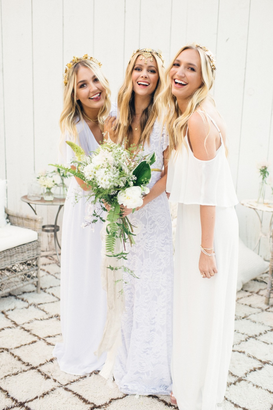 white bridesmaid dresses from Show Me Your Mumu