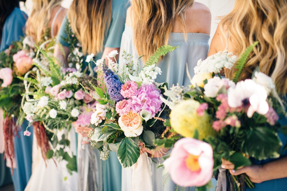 organic wildflower bouquets for your bridesmaid