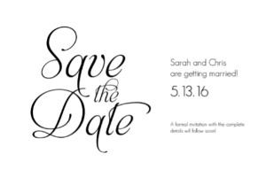 Fancy Font Free Printable Wedding Invites