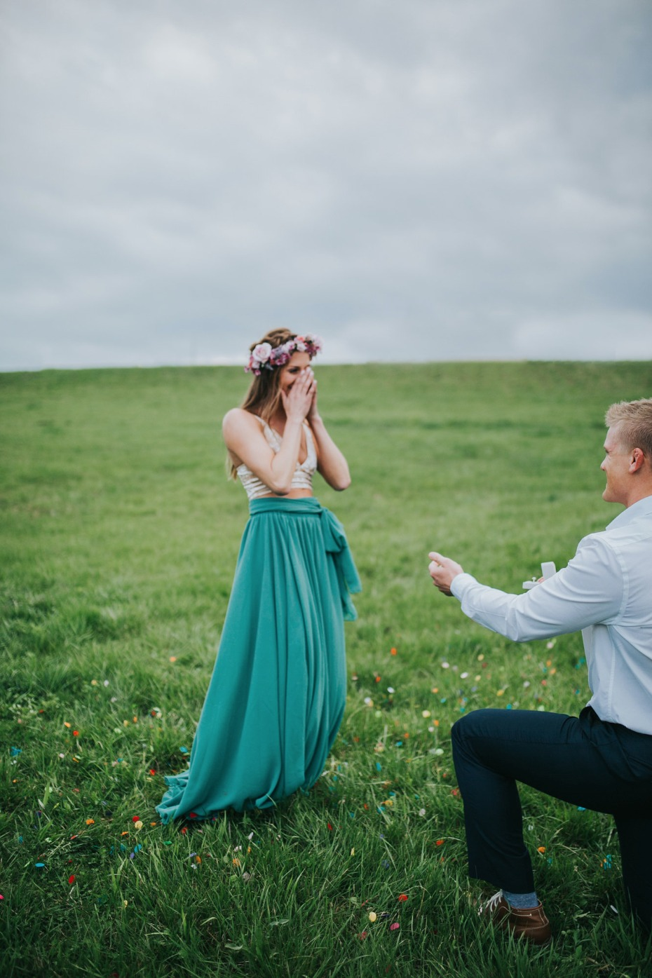 She says YES!