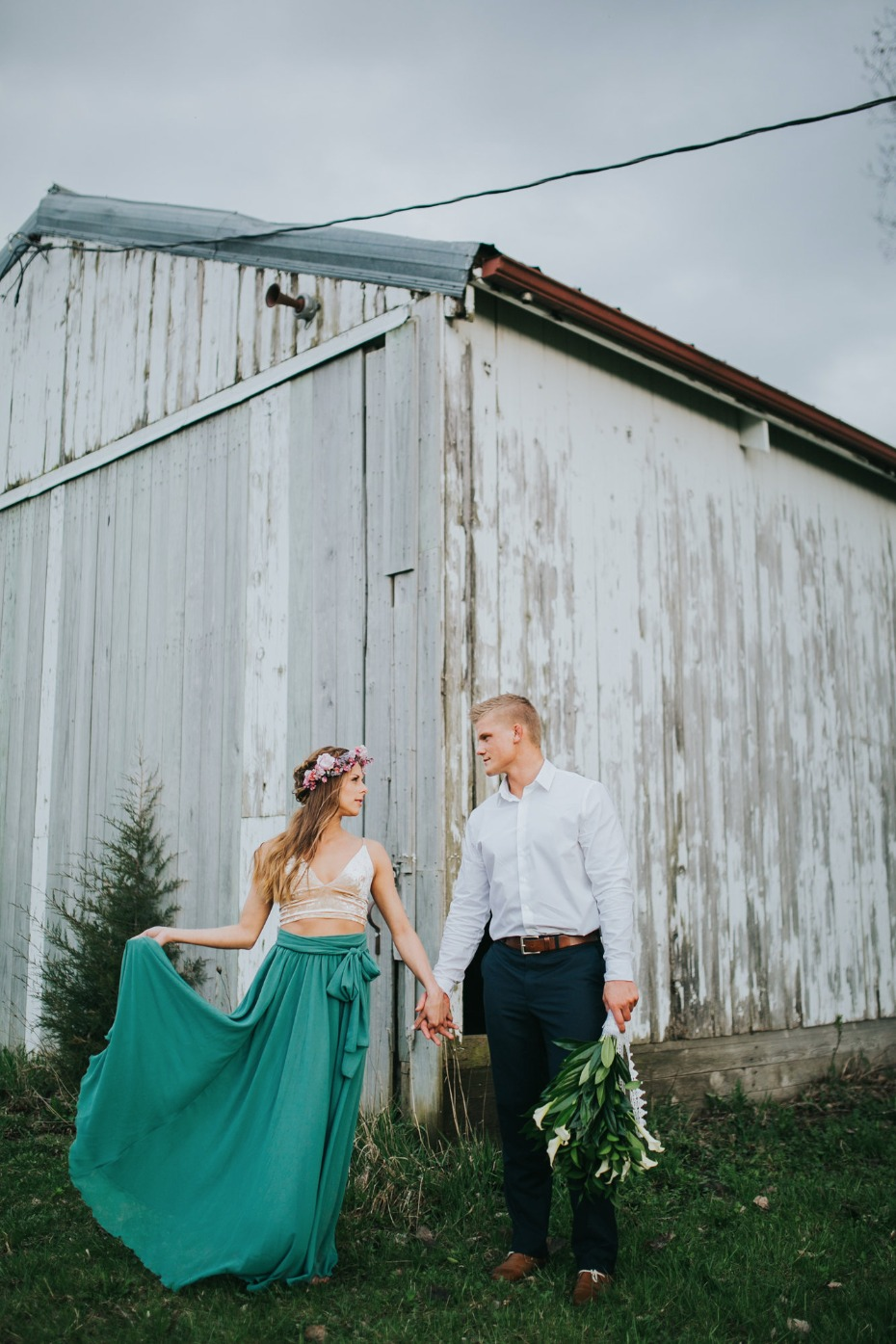 Styled shoot turned surprise engagement