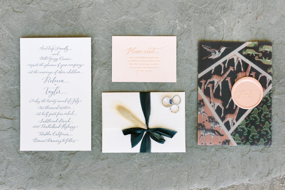 classic invites with an exotic vibe