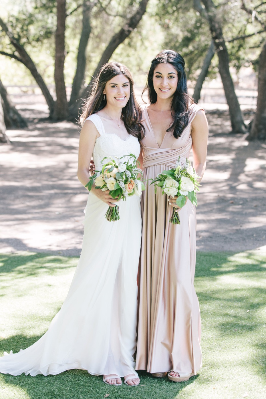 a bride and her maid of honor
