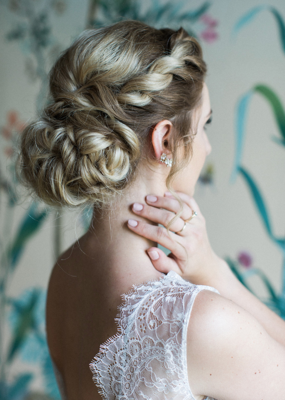 romantic wedding up-do
