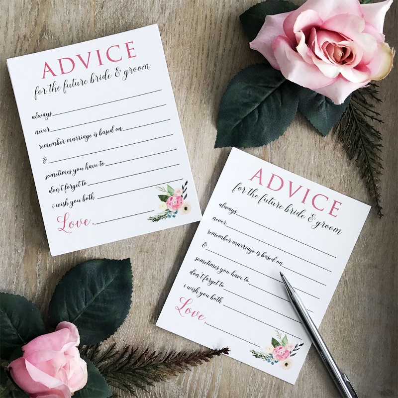 Coming together is a beginning; keeping together is progress; working together is success. Purchase advice cards and have your guests