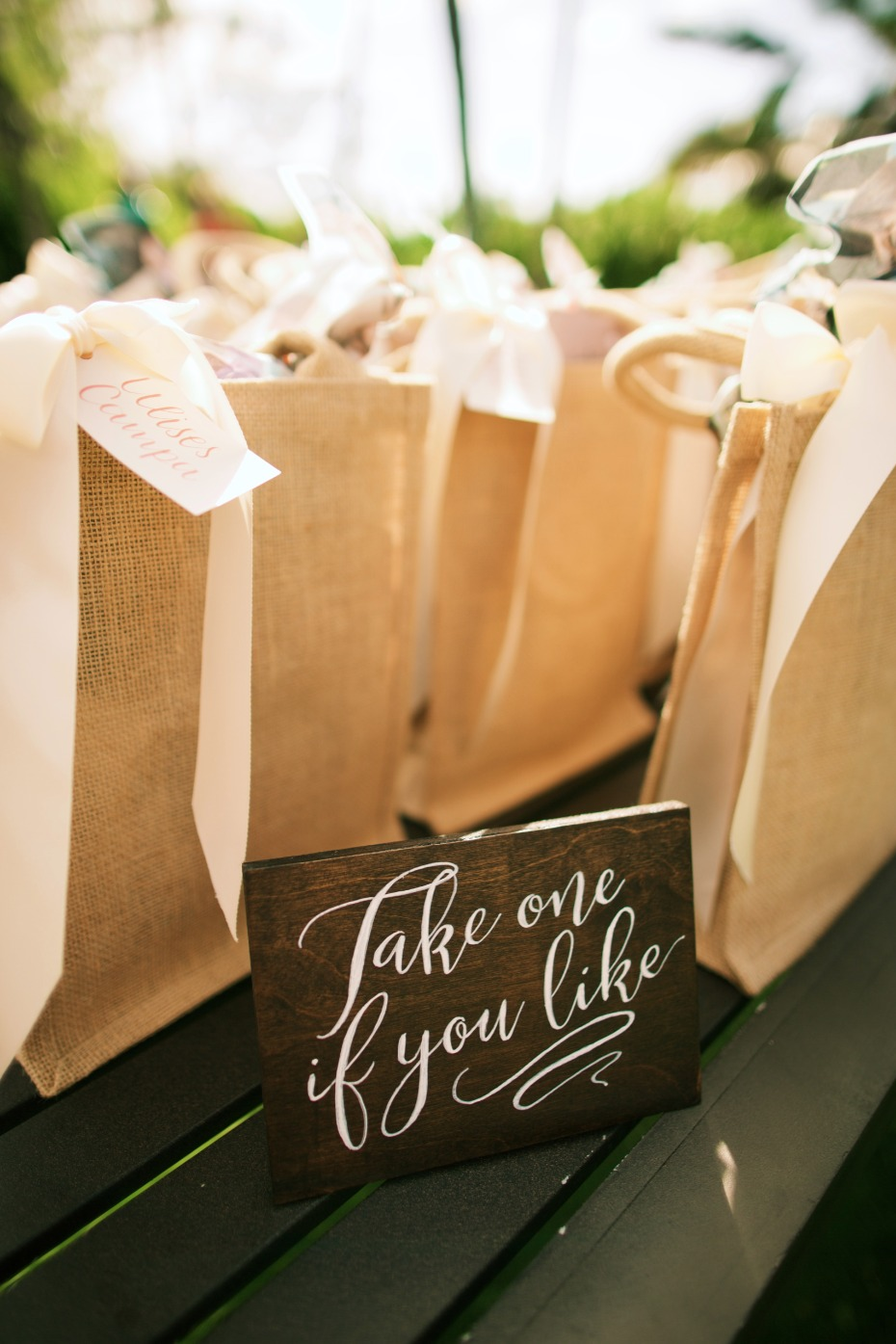 Cute favor bags for guests