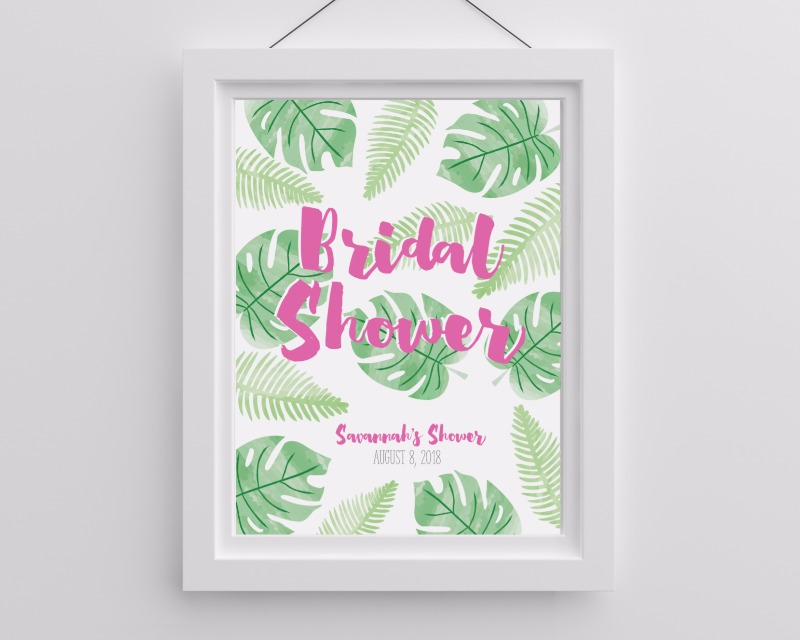 🌴 Bring a hint of the tropics to your beautiful bridal shower or wedding with this Personalized Pineapples and Palms Poster.