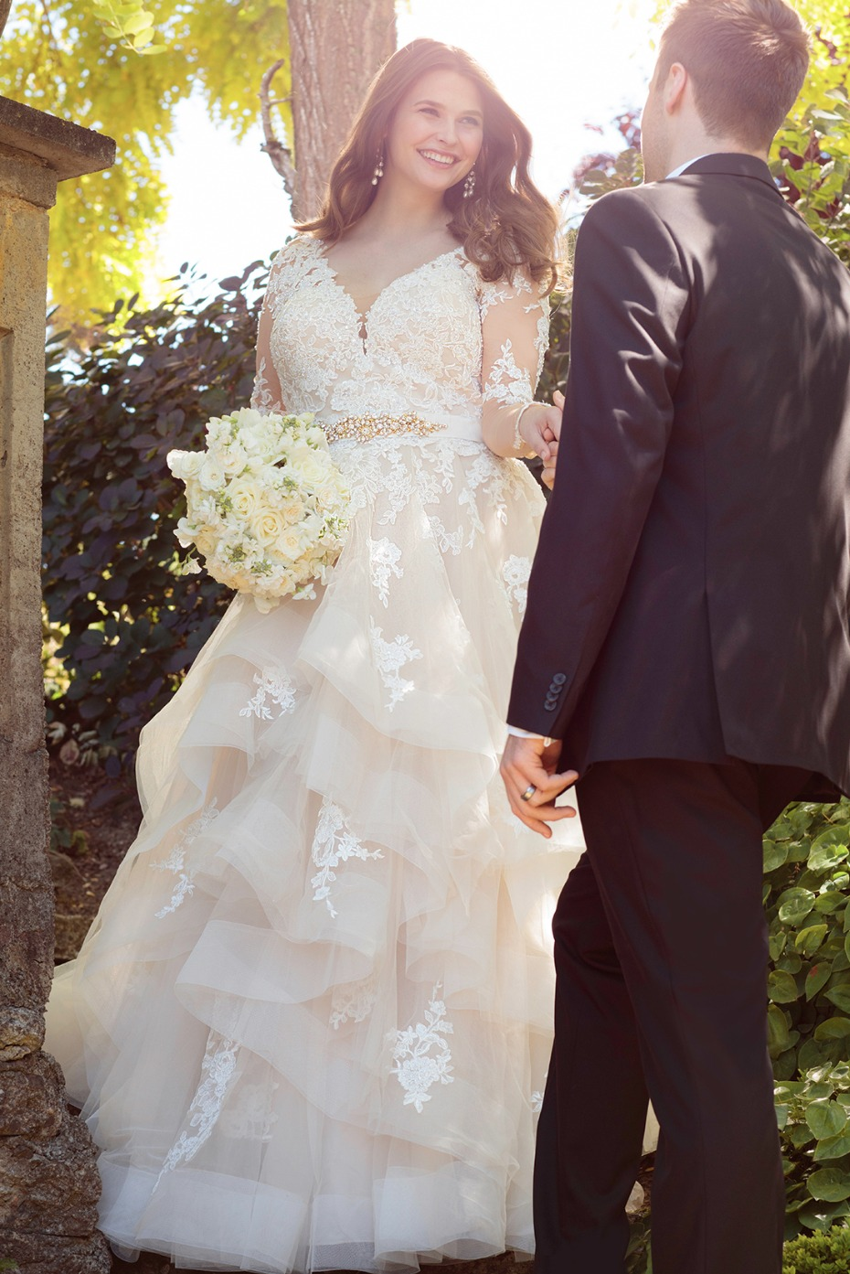 Essence of Australia long sleeve lace ball gown