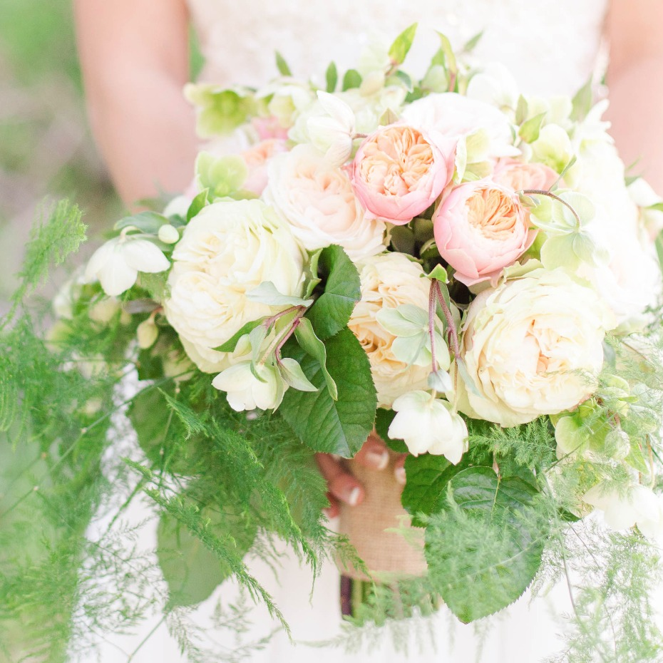 pink and ivory bouquet by Be A Tall Poppy