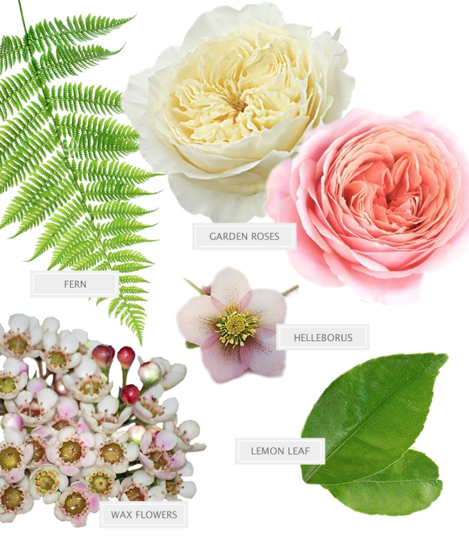 soft pink and white bouquet recipe