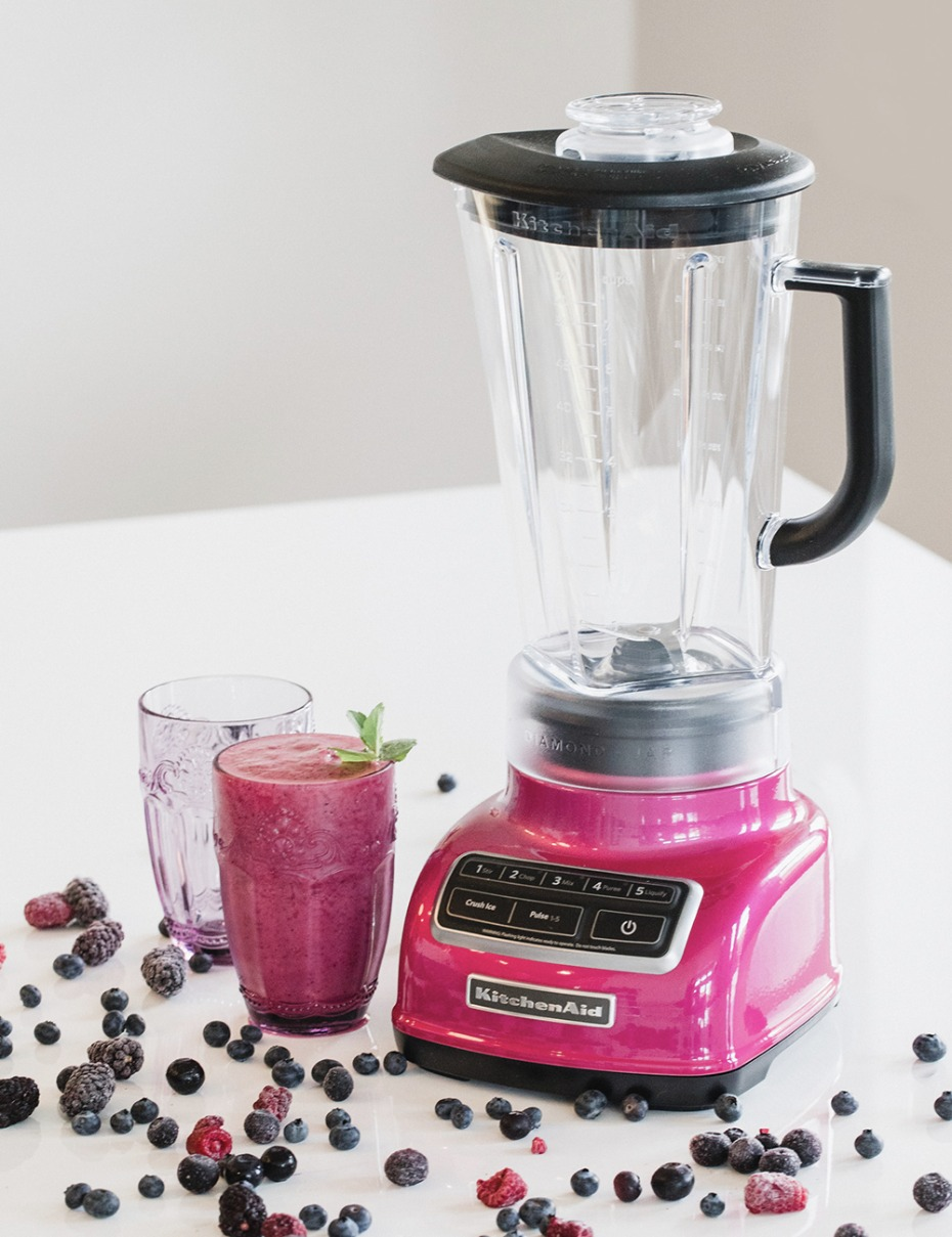 make your kitchen extra fun with this hot pink Kitchen Aid mixer