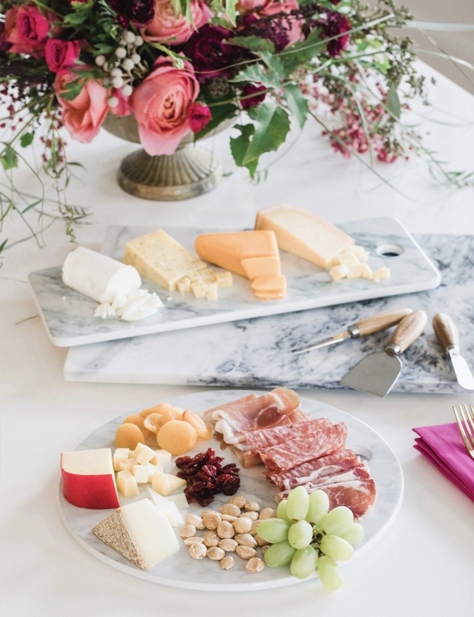 elegant cheese board