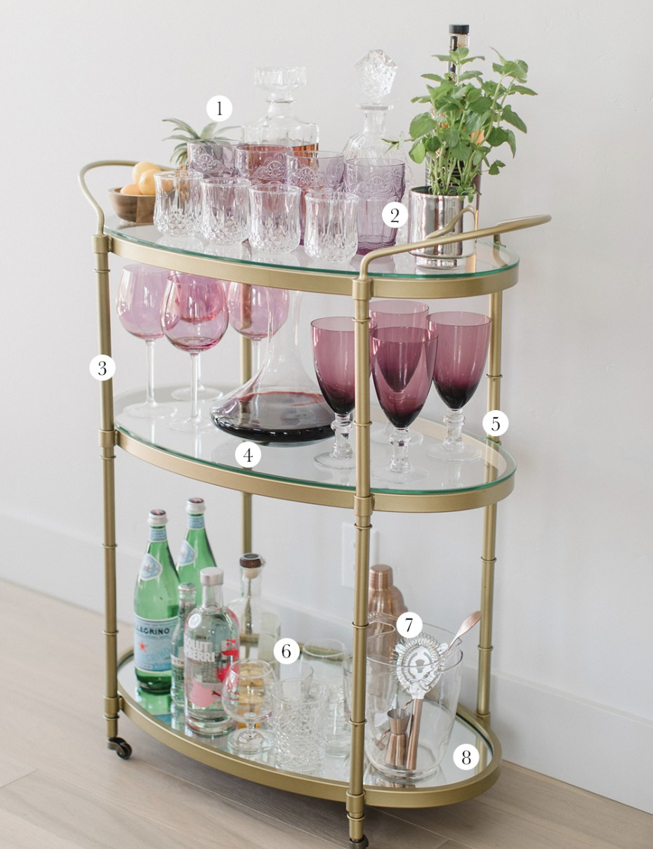 everything you need to create the perfect bar cart