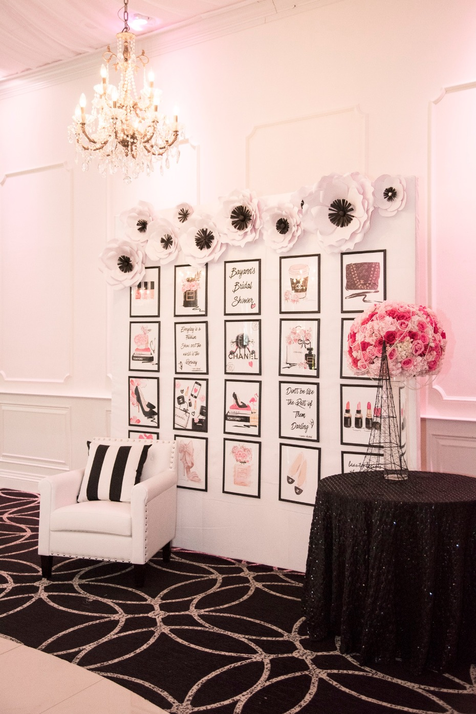 chanel themed bridal shower