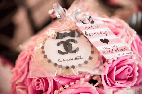 Chanel you later! A Perfume Themed Bridal Shower in Hot Pink