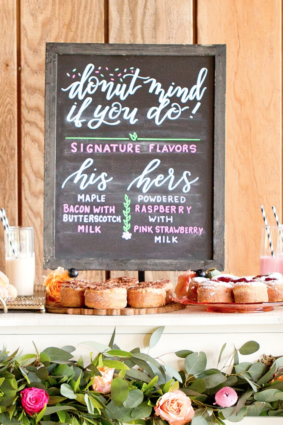 His and Her Donut buffet sign