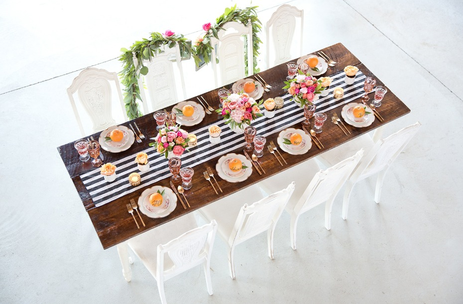 Kate Spade inspired table decor
