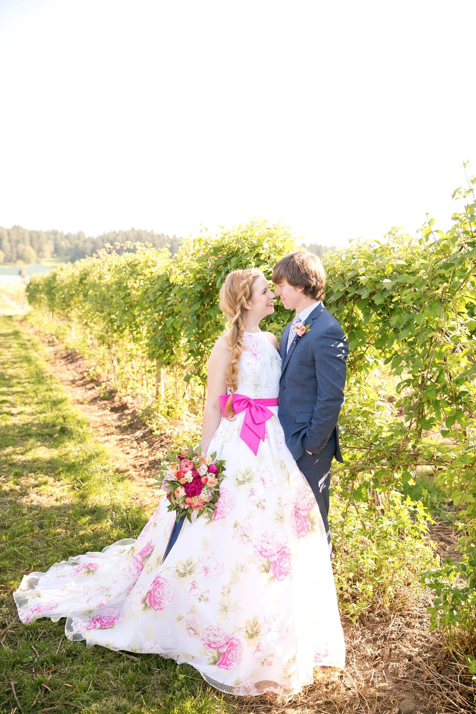 Colorful preppy chic wedding ideas