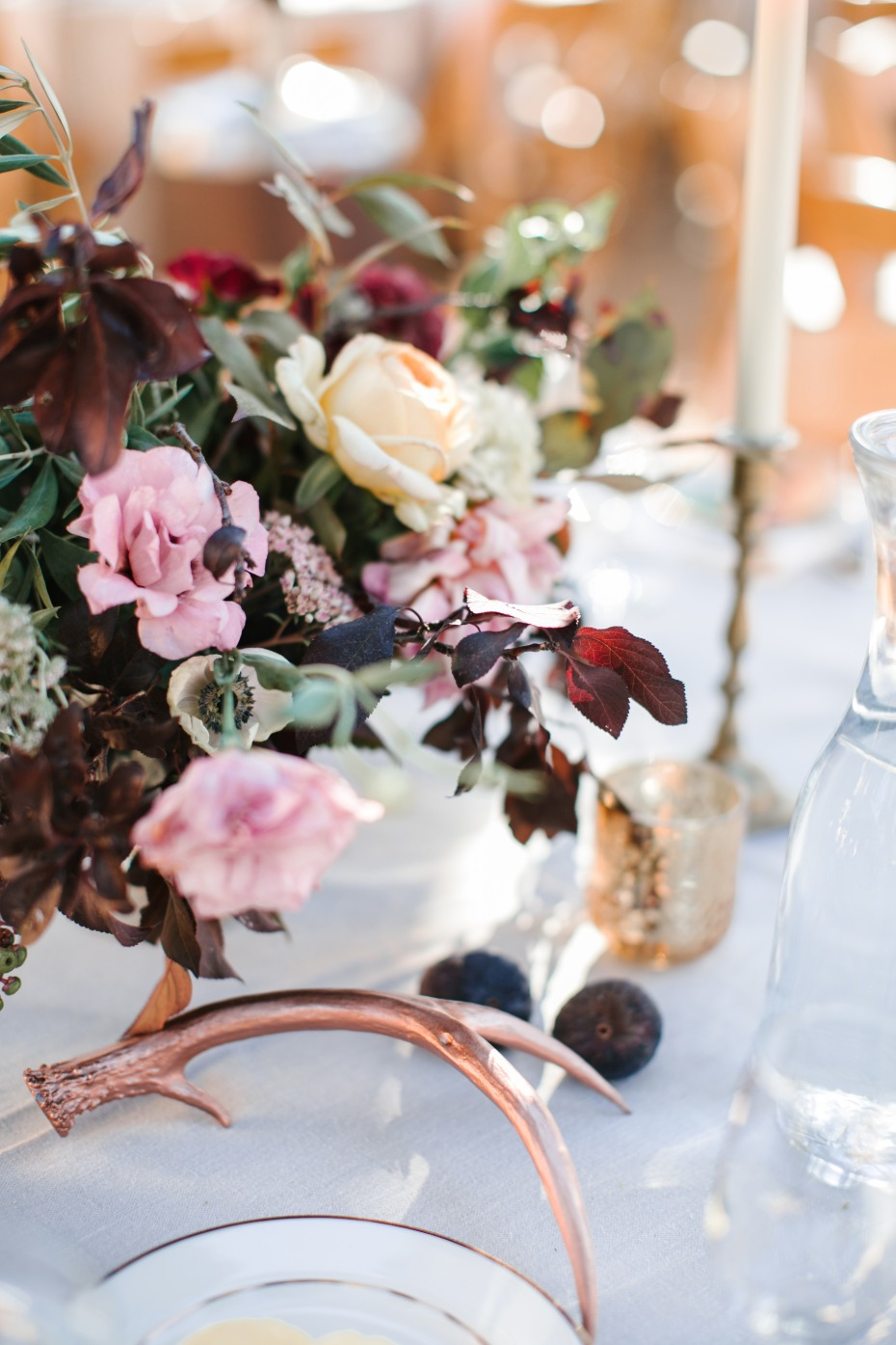 rustic and chic wedding table decor