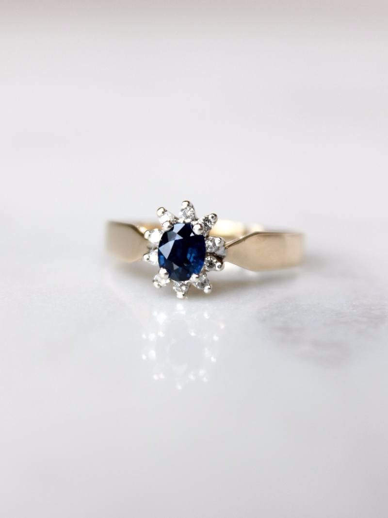 One of a kind vintage Sapphire. Need we say more?