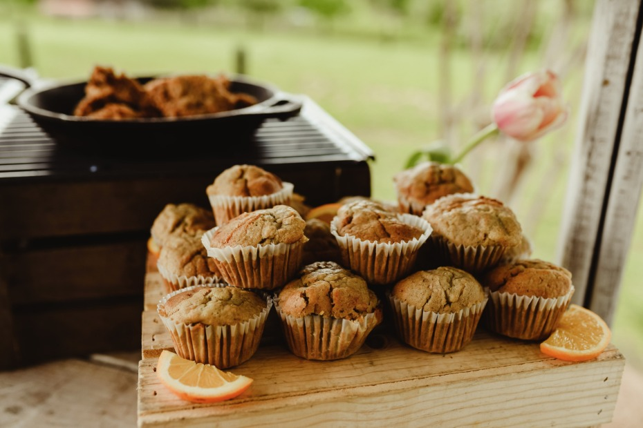 homemade muffins for your bridal brunch