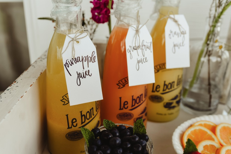 juice options for your mimosa bar
