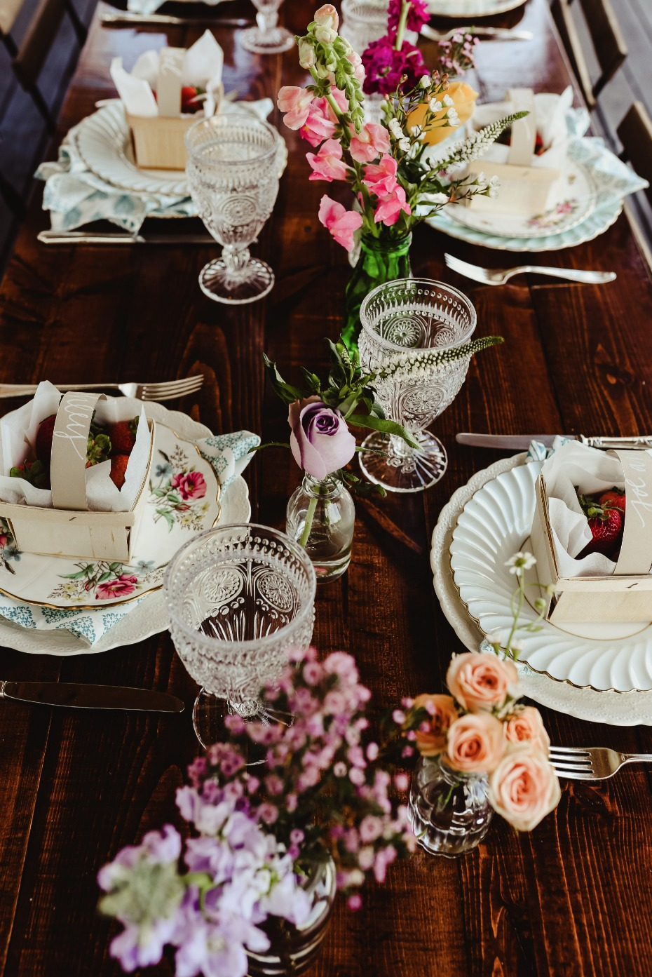 shabby chic farm fresh bridal brunch