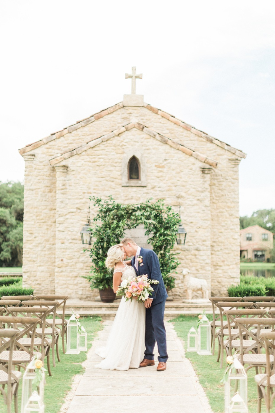 outdoor wedding ceremony in Houston