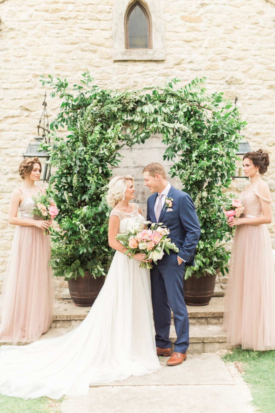 over grown style wedding arch