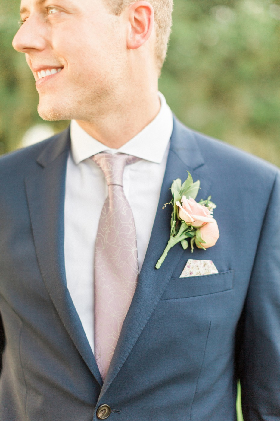 navy wedding suit for the groom