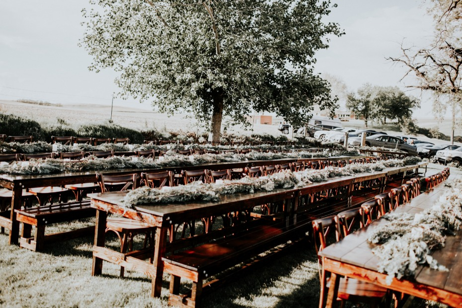 long family style table seating