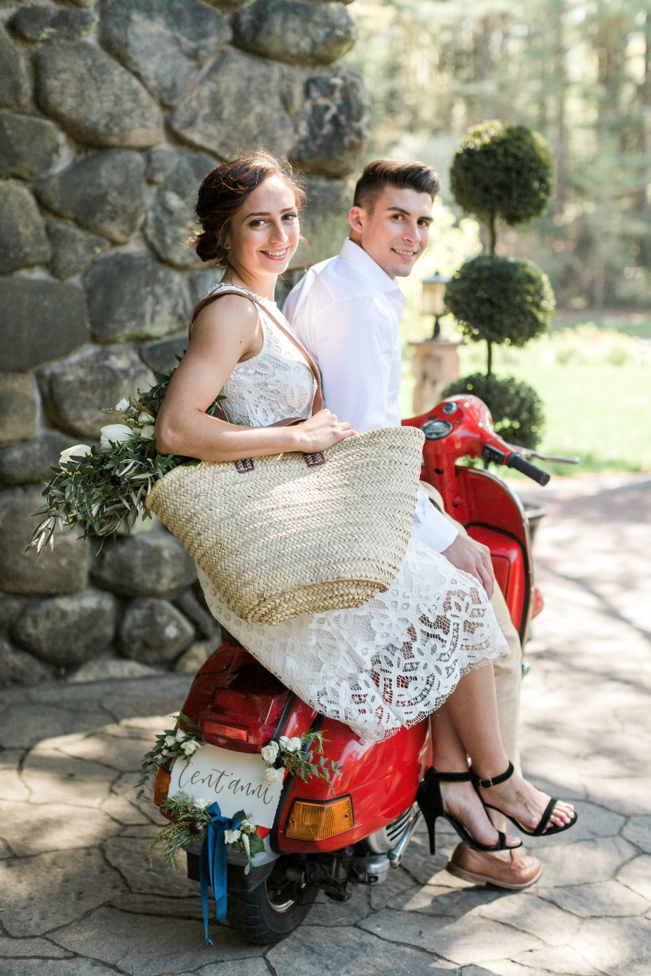 Getaway Vespa for this Italian wedding inspiration