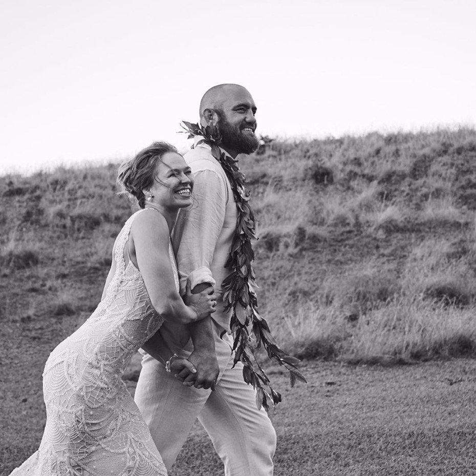 Ronda Rousey's Galia Lahav Wedding Dress