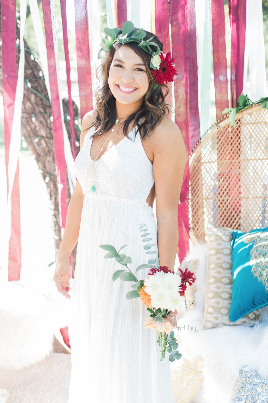 Boho bridal shower look