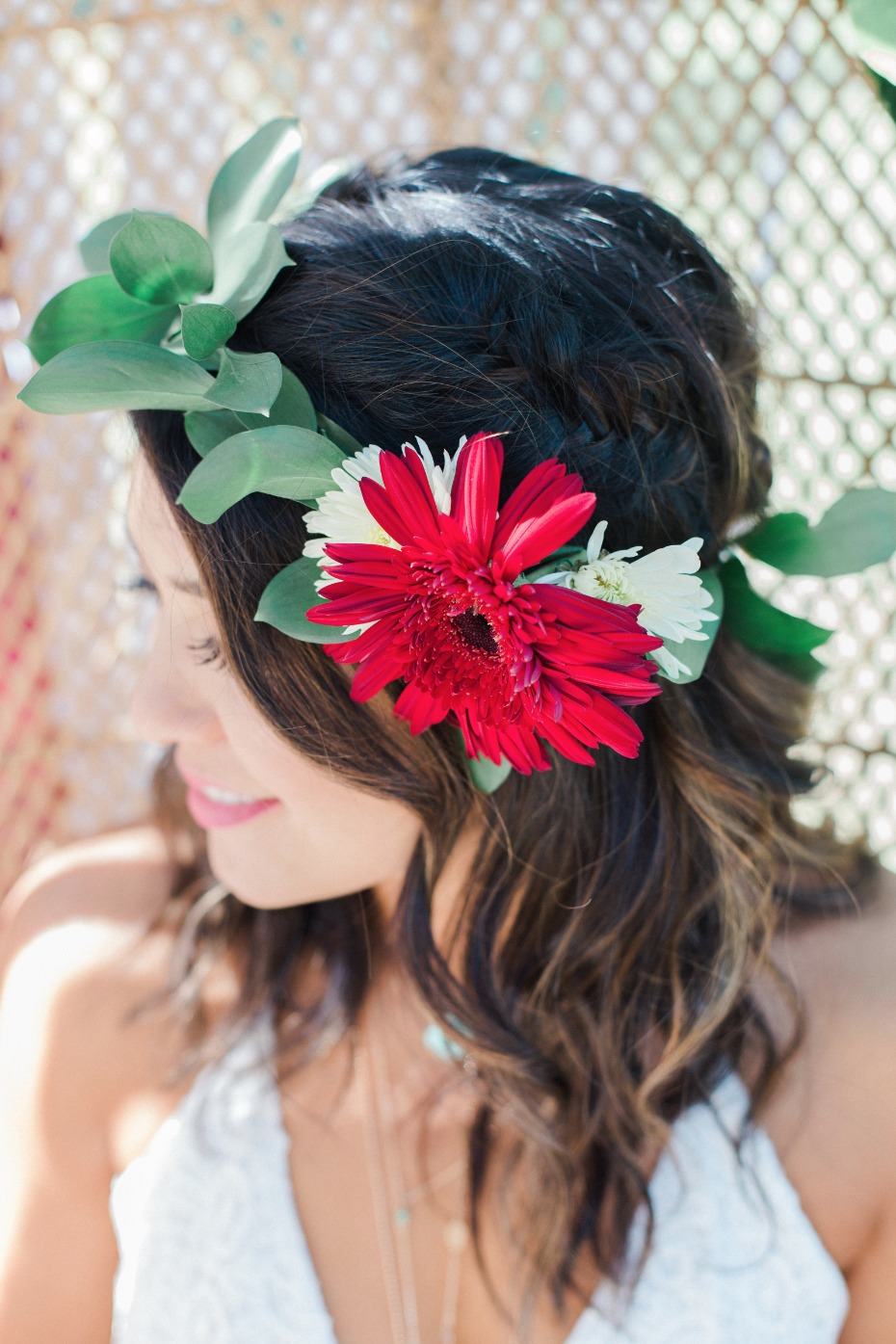 Bridal shower flower crown idea