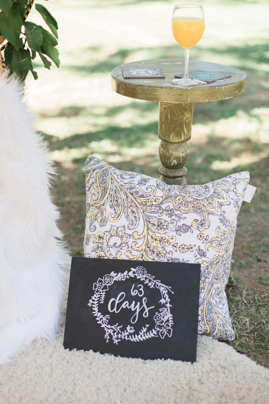 Getting married sign idea for a bridal shower