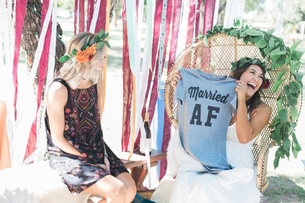 Good Vibes Only Bohemian Bridal Shower with Flower Crown Bar