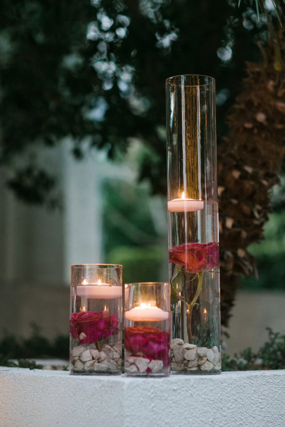 Cute floating candle vases