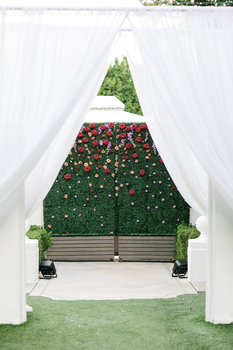 Floral backdrop wall