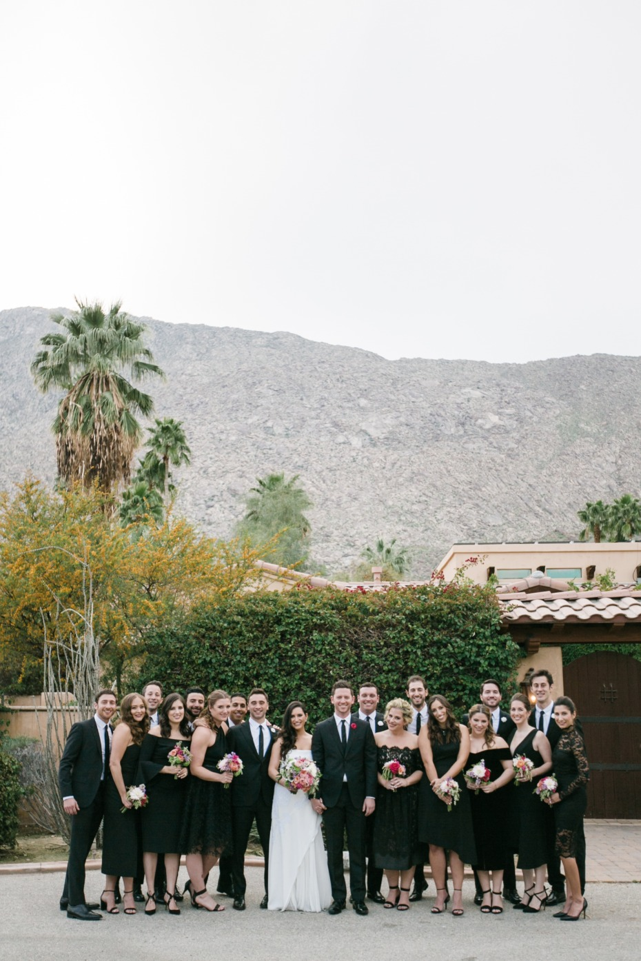 Chic wedding party in black