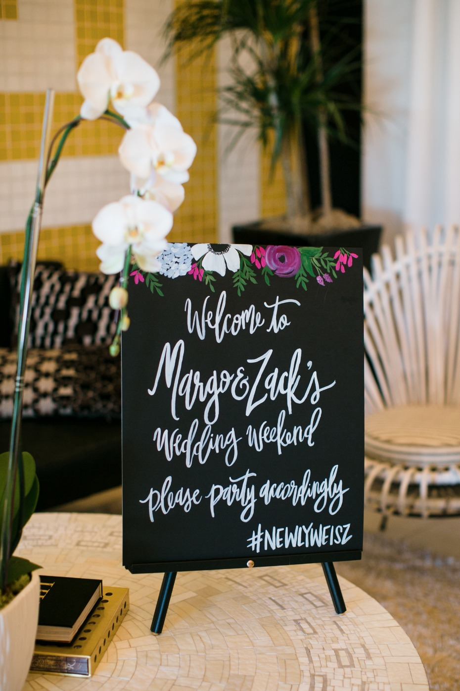 Fun wedding sign