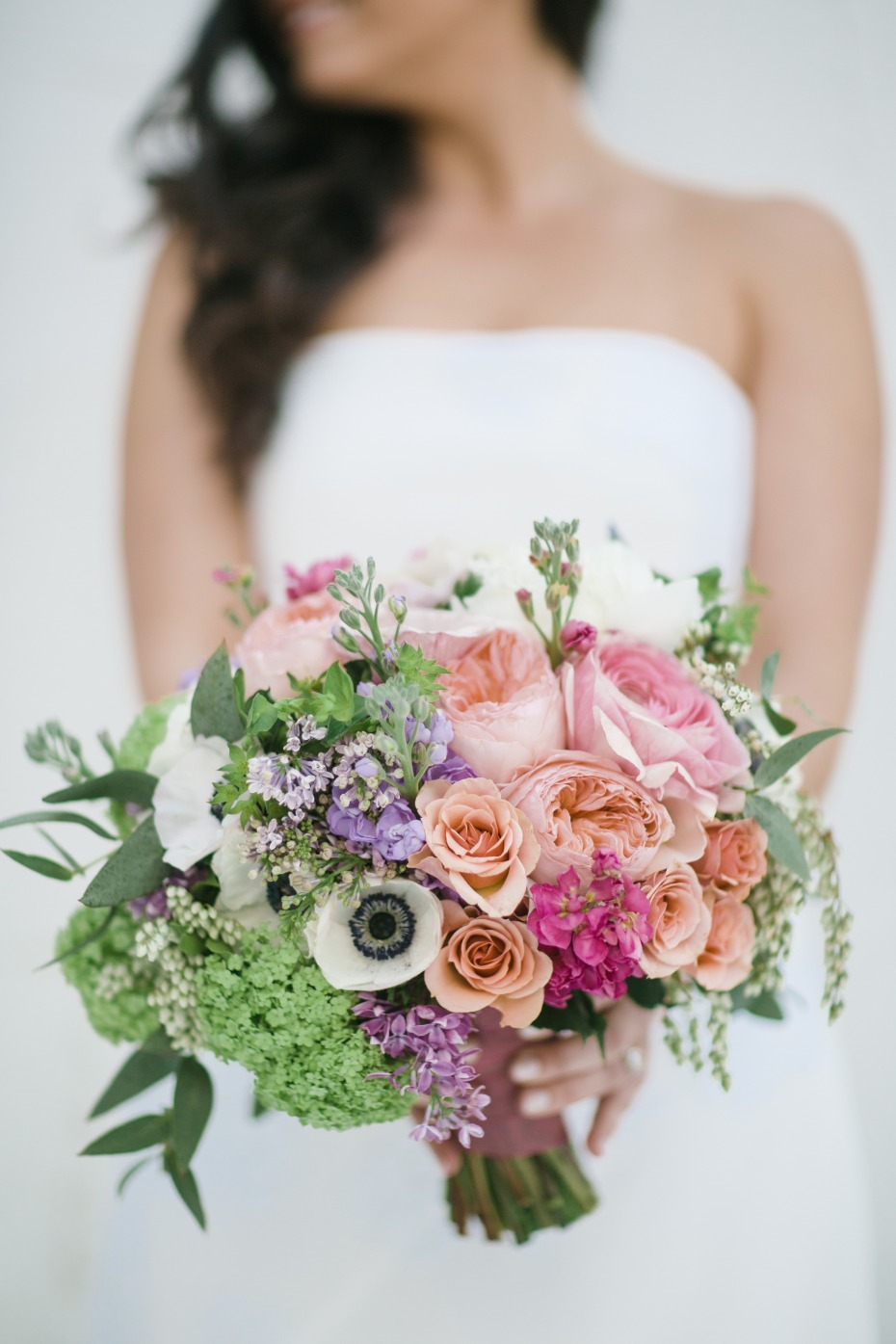 Soft peachy pink bouquet