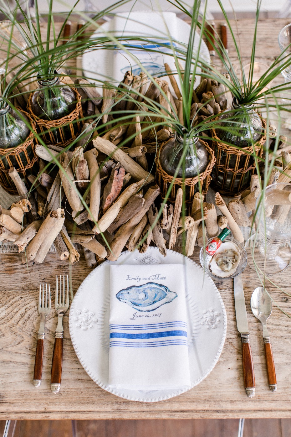 Beach themed wedding table